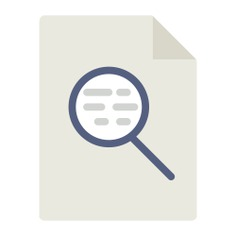 See more icon inspiration related to test, search, document, zoom, magnifying glass, loupe, Tools and utensils and interface on Flaticon.