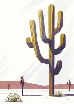 Girl and cactus #flouw #benjamin #illustration
