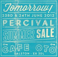 tomorrow_sale #percival #sale #typography