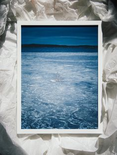 Artwork by Pale Grain #sweden #frozen #nordic #gteborg #cold #sea #nature #survive #blue #ice #winter