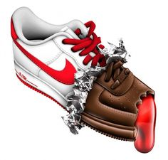 Nike Air Max & AF1 on the Behance Network #air #vasava #brush