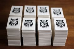 MORDANGO #ink #business #card #print #letterpress #seal #illustration #logo