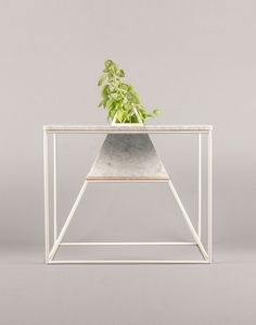 Varia — Design & photography related inspiration #geometry #grow #sputnik #marble #table #plant