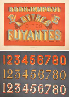 French Lettering for Sign Painting #1930s #type #lettering #vintage