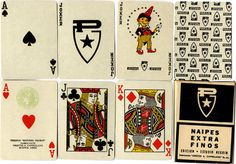 Estudio Negrin playing cards for PIRELLI, made by Orestes A. Cappellano S.R.L., Buenos Aires, Argentina, c.1960 World of Playing Cards #cards #playing