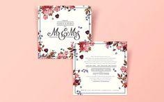 #Wedding #invite #floral #typography