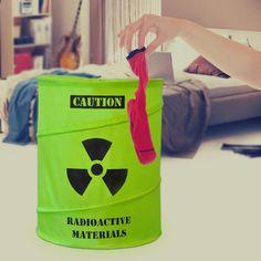 Mustard Toxic Laundry Basket #gadget
