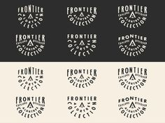 Frontier Collection Badge #frontier #badge #logos
