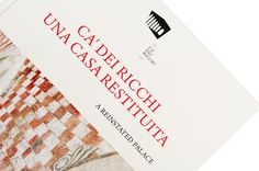 CÃ dei Ricchi on Behance #history #branding #book #corporate #brand #identity #palace