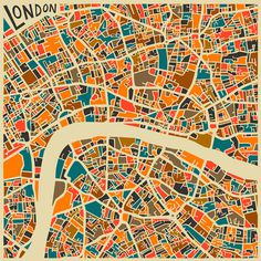 Modern Abstract City Maps #illustration #maps
