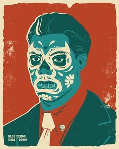 FFFFOUND! | I Love Dust presents Dead Wrestlers Society #screen print