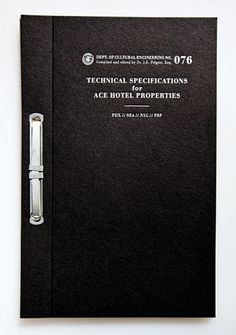 The Official Manufacturing Company / Work / Ace Hotel / Press Kit #print