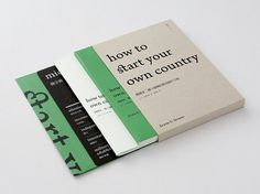 design / dont have the source this. anyone know? #editorial #book #brochure #green