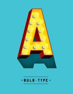 Typeverything.com - Bulb, a new typeface from Jeff... - Typeverything #bulb #type #typography