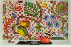 Art decor in kitchen #interior #painting #art #kids #apartment #room