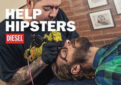 Diesel Footwear Help #diesel #poster #hipsters