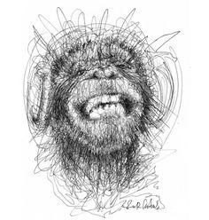 Wonderful Pen Stroke Drawings by Erick Centeno