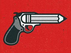 No.2 Original: http://ift.tt/10ezmIi #gun #illustration #pencil