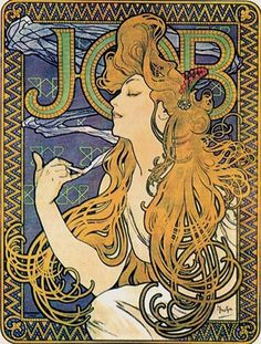 Mucha,+Papier+a+Cigarettes+(Job+ad)+1896.jpg 909×1200 pixels #art #job #nouveau #alphonse #mucha