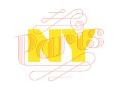 Paris New York 2011 branding #script #typography