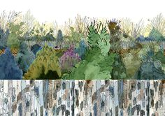http://henrymccausland.com/2011_Overgrown.jpg #illustration #plants #wood #trees