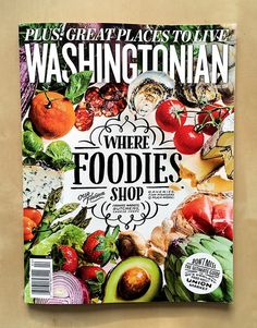 Washingtonian Magazine April 2014 #cover #magazines #handlettering #typography