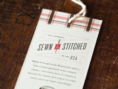 Dribbble - Woolrich Sewn & Stitched by Brent Couchman #woolrich #print #hang #tag #logo