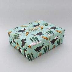 Image of Hares Wrapping Paper #paper #rabbit #pattern #wrapping