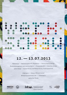Bis der Pförtner kommt postersofberlin: Werkschau at HTW – found in... #poster #color