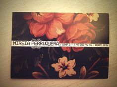 MIREIA PERRUQUERA hairdresser on the Behance Network #haircutting #business #mireia #cards #perruquera