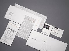 Monogram : Lovely Stationery . Curating the very best of stationery design #brand #identity