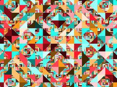 http://www.anatypestype.com #patterns #color #pattern #triangles