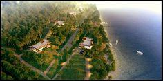 Kauno marios on the Behance Network #dizonaurai #water #house #visualisation