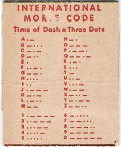 C. Carey Cloud Morse Code Signals reverse #morse #code