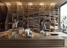 Dezeen » Blog Archive » Baker D Chirico by March Studio #interior #bakery #design #wood #melbourne
