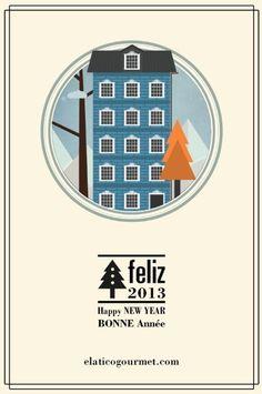 Vector Card #atico #vector #year #card #el #christmas #gourmet #new