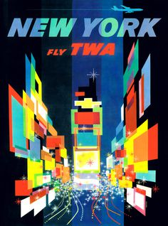 NYC Travel #travel #vintage #poster