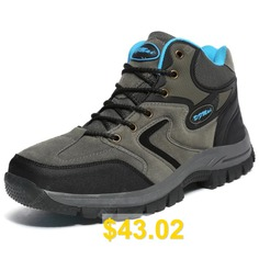 Men's #Waterproof #Hiking #Shoes #for #Outdoor #Travel #- #BLUEBERRY #BLUE