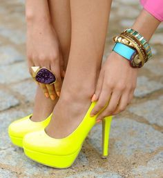 #fashion, #shoes, #yellow