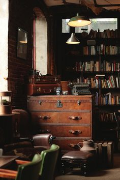 Tumblr #wood #office #library