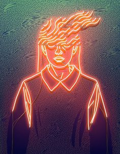 Vasya Kolotusha #pattern #illustration #gif #light #neon