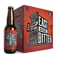 east side beer #bottle #packaging #bw #hand #beer #red #white #design #label #brand #identity #handmade #type #handdrawn #box #and #package #typography #black #drawn #manual