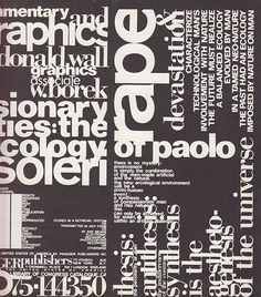 Paolo Soleri #design #graphic #typography