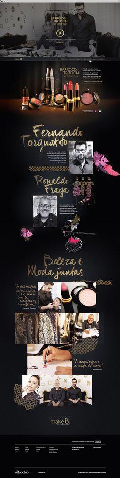 Make B. Barroco Tropical on Behance #site #makeup #moda #website #digital #fashion #luxury