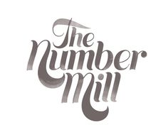 The Number Mill #logo #brand #identity #typography