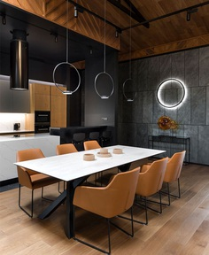 Luxury Ukrainian Villa by Studio Denrakaev - InteriorZine #diningroom #table #chairs #interior #decor