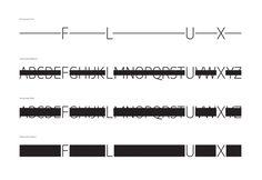 Flux on Behance #black #unique #identity #layout #deisgn #typography