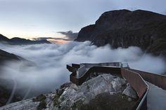 Trollstigen National Tourist Route Project, Trollstigen - Møre and Romsdal, Norway, 2005-2012. By Reiulf Ramstad Architects. #norway