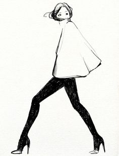 http://lesfraises.tumblr.com/post/1419951508 #illustration #fashion #drawing