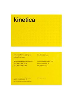 Kinetica — Design by Face. #print #business card #grid #stationery